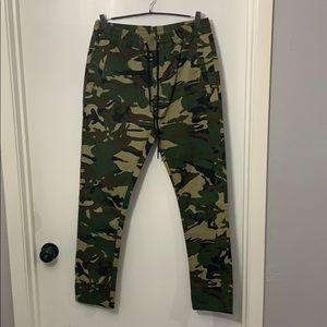 Forever 21 army fatigue camouflage drawstring pant